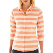jcp™ Long-Sleeve Relaxed-Fit Essential Shirt - Tall