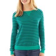 a.n.a® Long-Sleeve Striped Essential Crewneck Sweater - Tall