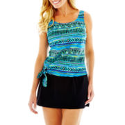 Azul by Maxine of Hollywood Jogger Tankini Swim Top or Skirted Bottoms