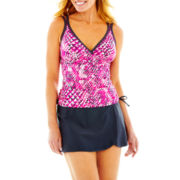 Free Country® Print Tankini Swim Top or Belted Skirted Bottoms