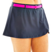 Free Country® Belted Skirted Swim Bottoms