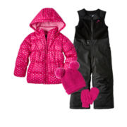 Vertical 9 Puffer Jacket, Snow Bib or Toby & Me Critter Hat & Glove Set - Girls