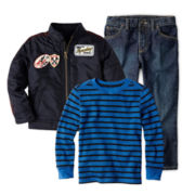 Arizona Thermal Tee, Moto Jacket or Jeans - Boys