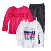 Okie Dokie® Long-Sleeve Tee or Knit Jeggings - Girls