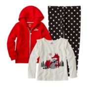 Okie Dokie® Long-Sleeve Tee, Leggings or Hooded Fleece Jacket - Girls