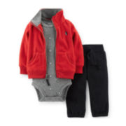 Carter's® 3-pc. Cardigan, Bodysuit and Pants Set – Boys newborn-24m