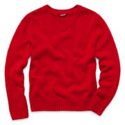 Arizona Long-Sleeve Solid Pullover Jacquard Sweater – Boys 6-18