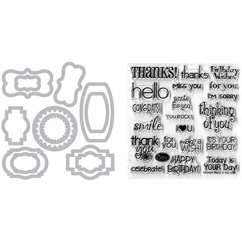 Sizzix® Framelits Phrases Die and Stamp Kit
