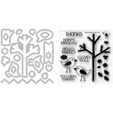 jcpenney.com | Sizzix® Framelits Die and Stamp Kit – Birds & Tree