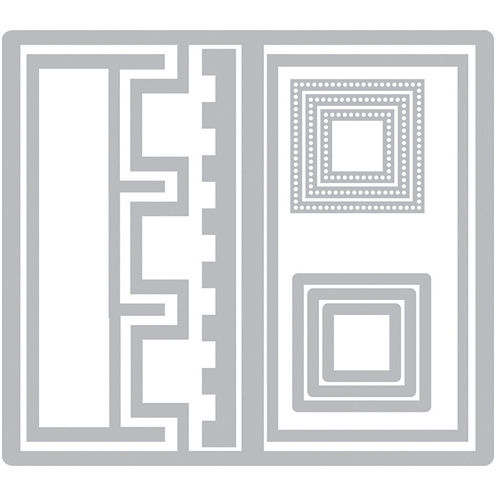 Sizzix® Framelits 10-pc. Nested Die Set - Triple Square Flip-Its Card