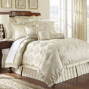 Marquis by Waterford® Hadley Platinum 4-pc. Comforter Set & Accessories