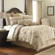 Marquis by Waterford® Samantha Gold Floral 4-pc. Jacquard Comforter Set