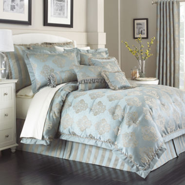 jcpenney.com | Marquis by Waterford® Hadley Blue 4-pc. Jacquard Comforter Set