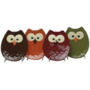 Owl Set of 4 Appetizer Plates