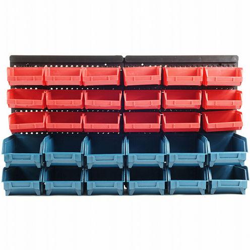 Stalwart™ 30-Bin Wall-Mounted Parts Rack