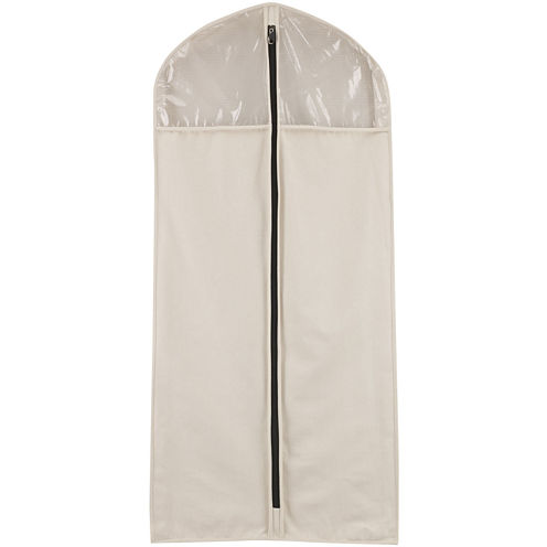 Household Essentials® Zippered Hanging Canvas Suit/Dress Bag