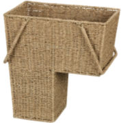 Household Essentials® Seagrass Stair Basket with Handles