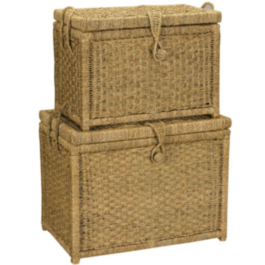 jcpenney.com | Household Essentials® Set of 2 Seagrass Chests