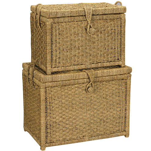 Household Essentials® Set of 2 Seagrass Chests