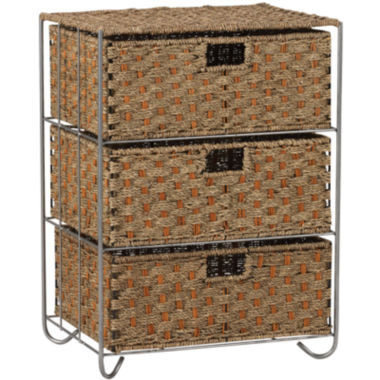 jcpenney.com | Household Essentials® Seagrass/Rattan 3-Drawer Chest