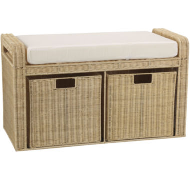 jcpenney.com | Household Essentials® Rattan Storage Seat