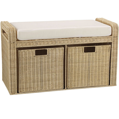 Household Essentials® Rattan Storage Seat