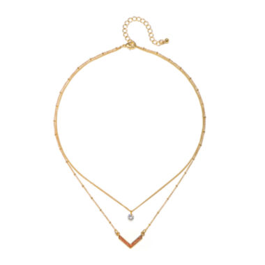 jcpenney.com | Mixit™ Chevron Layered Necklace