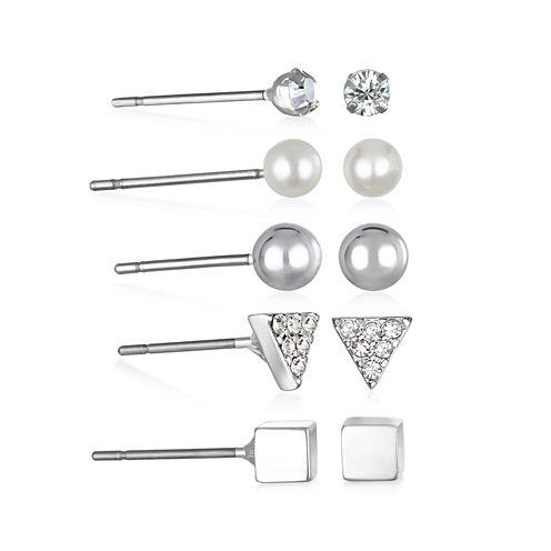 Mixit™ 5-pr. Silver-Tone Stud Earrings