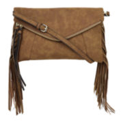 BELLE + SKY™ Maya Fringe Clutch Crossbody Bag