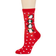 Mixit™ Womens Christmas Crew Socks
