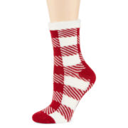 Mixit™ Womens Plush Slipper Socks