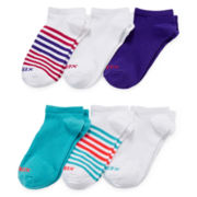 Xersion™ Womens 6-pk. Flat Knit No-show Socks