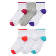 Xersion™ Womens 6-pk. Zone Cushioned Tipped Quarter Socks