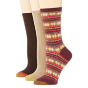Gold Toe® Womens 3-pk. Fair Isle Crew Socks