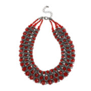 Mixit™ Red Bead Woven Collar Necklace