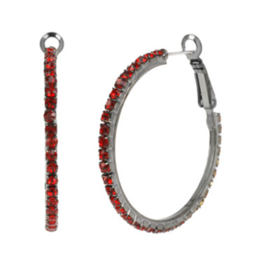 jcpenney.com | Mixit™ Red Bead Hoop Earrings