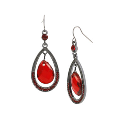 jcpenney.com | Mixit™ Red Bead Pear-Shaped Earrings