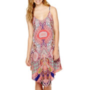 Trixxi® Sleeveless Spaghetti-Strap X-Back Dress