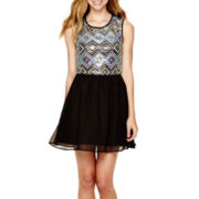 Love Reigns Sleeveless Sequin Skater Dress