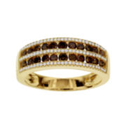 3/4 CT. T.W. White and Color-Enhanced Cognac Diamond Ring