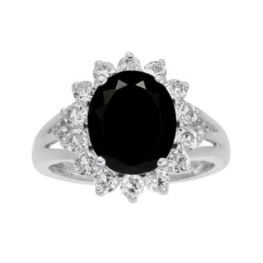 jcpenney.com | Oval Genuine Black Onyx and Lab-Created White Sapphire Ring