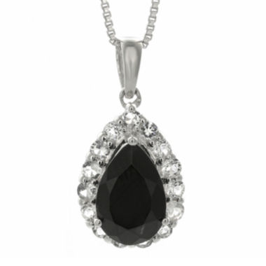 jcpenney.com | Pear-Shaped Genuine Black Onyx and White Topaz Pendant Necklace