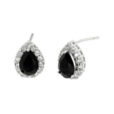 jcpenney.com | Pear-Shaped Genuine Black Onyx and White Topaz Pendant Earrings
