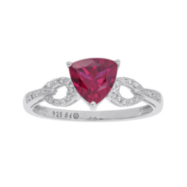 jcpenney.com | Lab-Created Ruby and Diamond-Accent Sterling Silver Ring