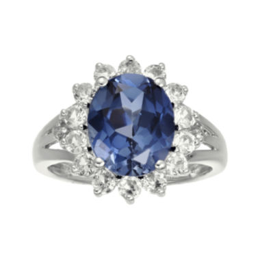 jcpenney.com | Lab-Created Blue and White Sapphire Sterling Silver Starburst Ring