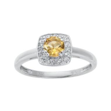 jcpenney.com | Genuine Citrine and White Topaz Sterling Silver Ring