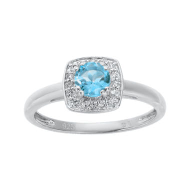 jcpenney.com | Genuine Blue and White Topaz Sterling Silver Ring