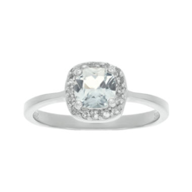 jcpenney.com | Cushion-Cut Genuine White Topaz Sterling Silver Ring