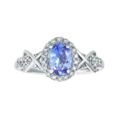 jcpenney.com | 1/4 CT. T.W. Diamond and Genuine Tanzanite 10K White Gold Ring