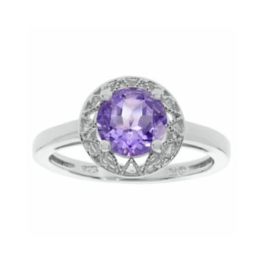 jcpenney.com | Genuine Amethyst Filigree Sterling Silver Ring